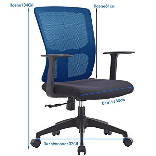 jlsun b rostuhl schreibtischstuhl mit netzr cken jlb011 bs. Black Bedroom Furniture Sets. Home Design Ideas