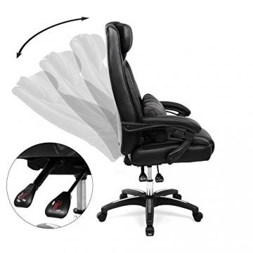songmics luxus b rostuhl obg76b mit klappbarer kopfst tze. Black Bedroom Furniture Sets. Home Design Ideas