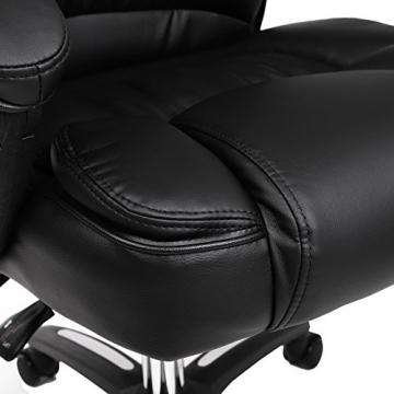 Luxus bürostuhl  ᐅᐅ】 Songmics Luxus Bürostuhl OBG76B mit klappbarer Kopfstütze