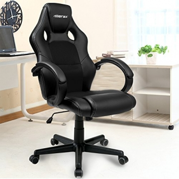 merax b rostuhl racing stuhl sportsitz mit hoher r ckenlehne. Black Bedroom Furniture Sets. Home Design Ideas