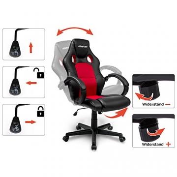 Merax® Chefsessel Bürostuhl Racing Stuhl rot