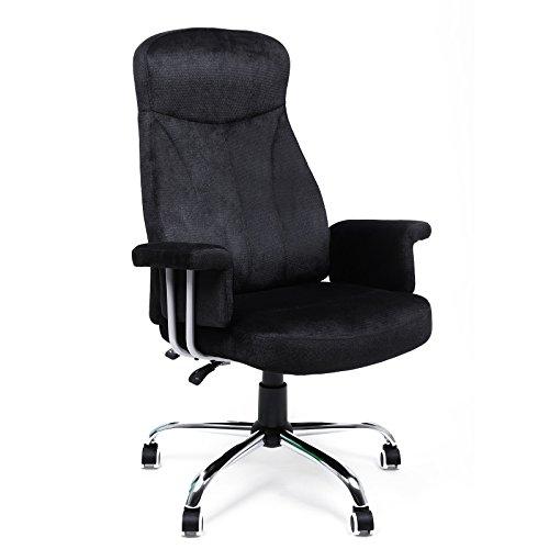 songmics b rostuhl relaxstuhl samtbezug schwarz obg41b. Black Bedroom Furniture Sets. Home Design Ideas