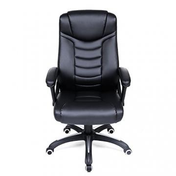 Songmics schwarz Bürostuhl Chefsessel Bürodrehstuhl hoher sitzkomfort OBG21B - 3