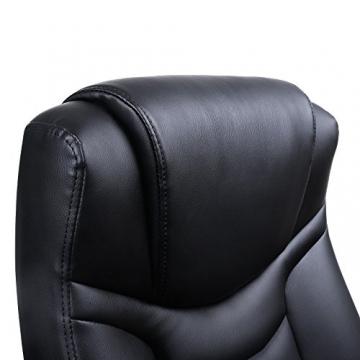 Songmics schwarz Bürostuhl Chefsessel Bürodrehstuhl hoher sitzkomfort OBG21B - 8