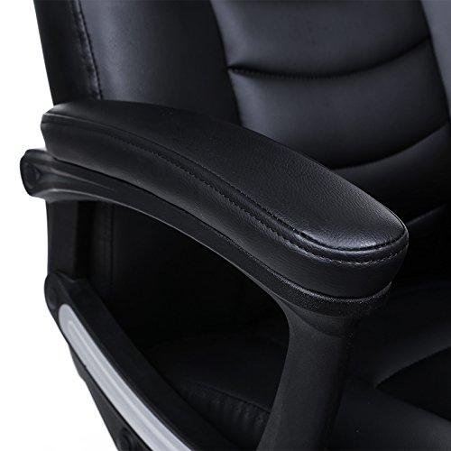 Songmics schwarz Bürostuhl Chefsessel Bürodrehstuhl hoher sitzkomfort OBG21B - 9