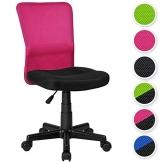 TecTake Schreibtischstuhl Schwarz-Pink