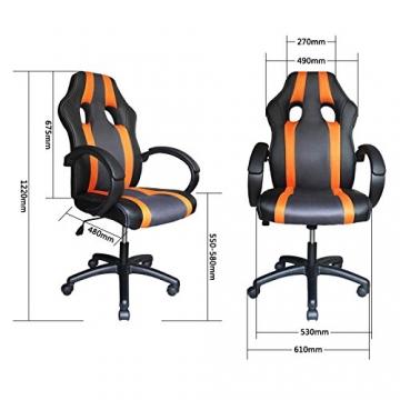 VINGO® Chefsessel orange-grau Bürostuhl