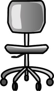 Grafik mit Bürostuhl ohne Armlehnen